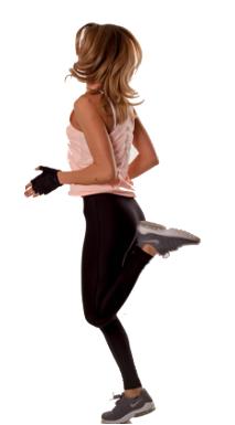 Alergat pe loc exercitiu slabit femei