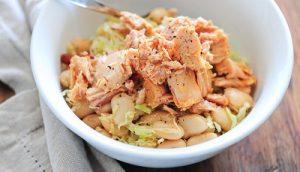 Reteta cina salata fasole cu ton