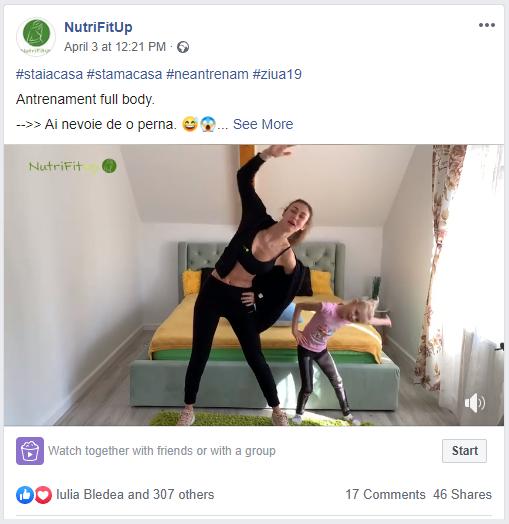 Antrenamente Live NutriFitUp