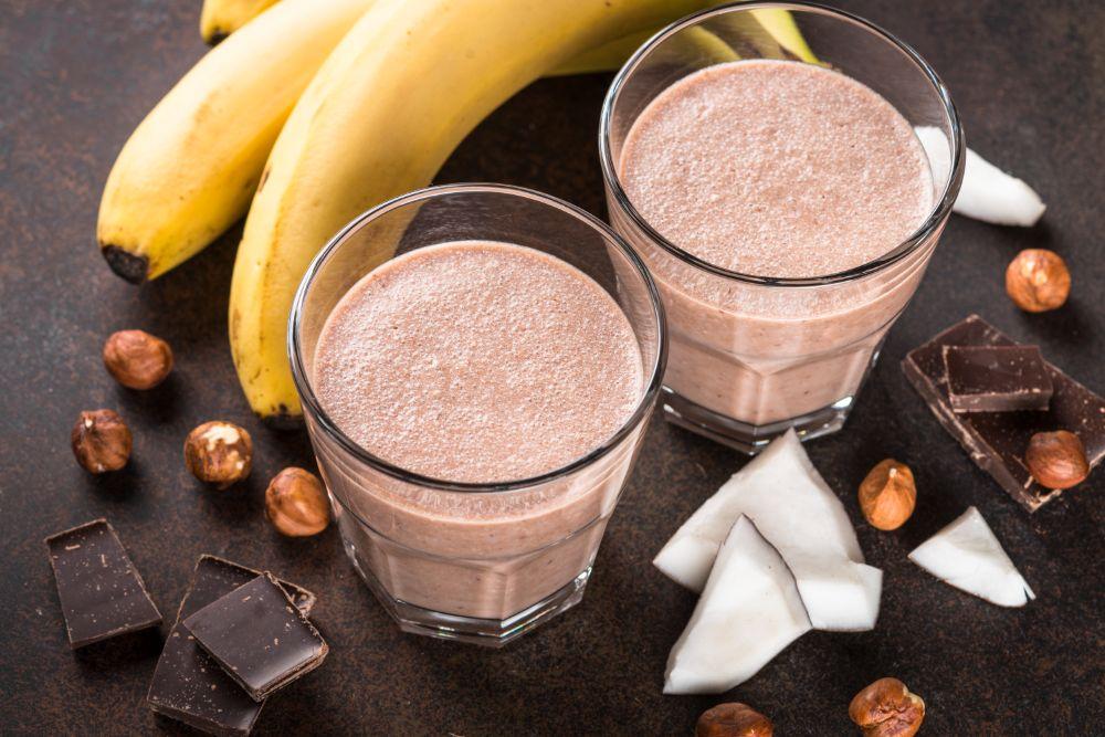 Reteta smoothie cacao banane cocos